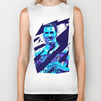 zlatan Biker Tanks featuring Zlatan Ibrahimović : Football Illustrations by mergedvisible