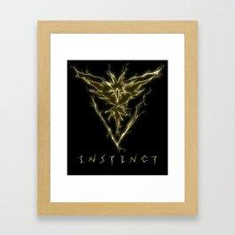 TEAM INSTINCT Framed Art Print