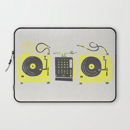 DJ Vinyl Decks And Mixer Laptop Sleeve