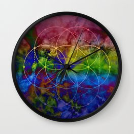 Psychedelic Seed of Life Wall Clock
