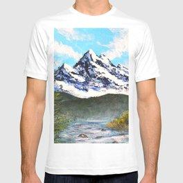 Bob Ross Art - Mountain Art T-shirt