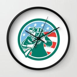 American Frontiersman Daniel Boone Circle Retro Wall Clock