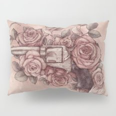 Guns & Flowers Pillow Sham