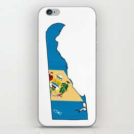 Delaware Map With Delaware Flag iPhone Skin