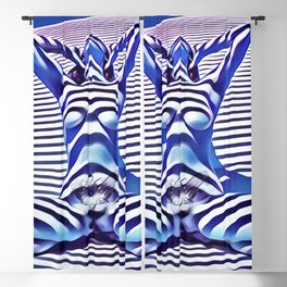 9665s-KMA_5201 Powerful Blue Woman Open Free Striped Sensual Sexy Abstract Nude Blackout Curtain