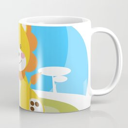 Lion in the savannah Coffee Mug