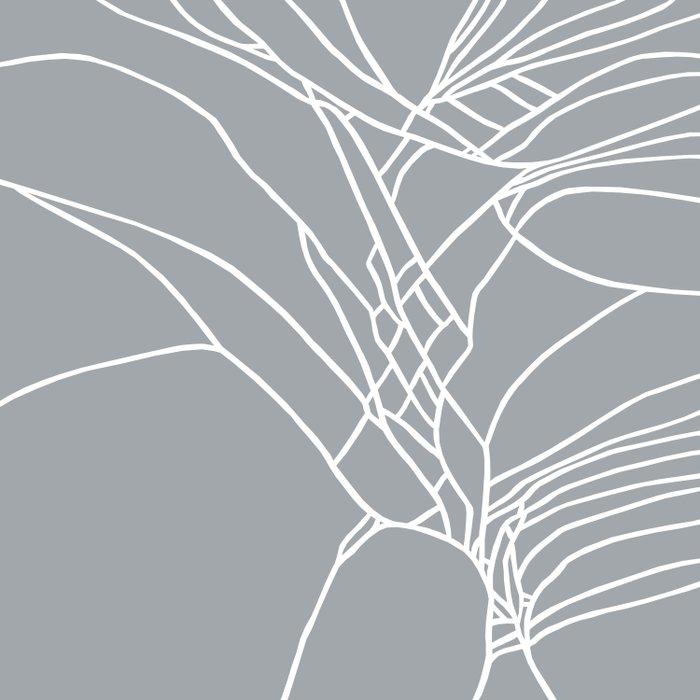 Cracked White on Grey Duvet Cover