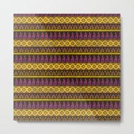 Thai Fabric Patterns - Thai Airways Colour Palette Metal Print