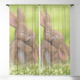 Easter Bonny | Lapin de Pâques Sheer Curtain