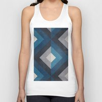 greece Tank Tops featuring Greece Hues Diamond by Diego Tirigall