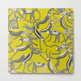 monkey chartreuse Metal Print
