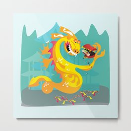 Year of the Dragon Metal Print