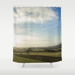 Morning Fields Shower Curtain
