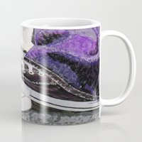 converse Mugs featuring Converse by Leslie Creveling