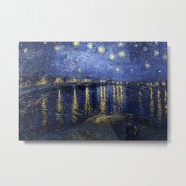 Reprint - Vincent van Gogh - Starry Night Metal Print