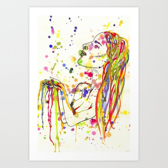 Colour Me In Art Print