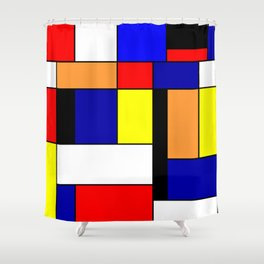 Mondrian #1 Shower Curtain