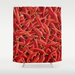 Too many Chillies Shower Curtain