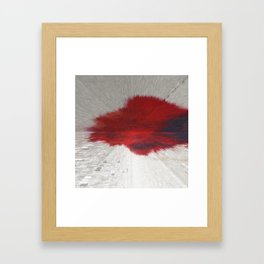 Extruded Blood Framed Art Print