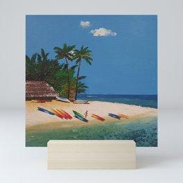 The Beach 2 Mini Art Print