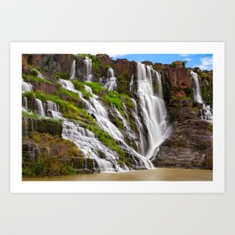 The Pongour waterfall, Dalat, Vietnam Art Print