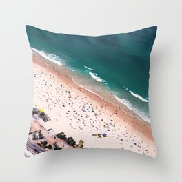Day of Beach Throw Pillow