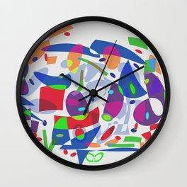 Bringing Down The House Shapes Abstract Wall Clock