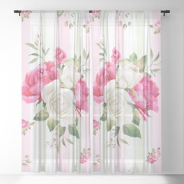 Belle époque flower power Sheer Curtain