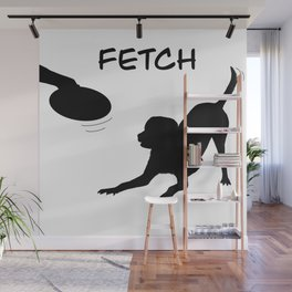 Playing fetch Wall Mural