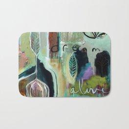 """""""Dream Alive"""" Original Painting by Flora Bowley Bath Mat"""