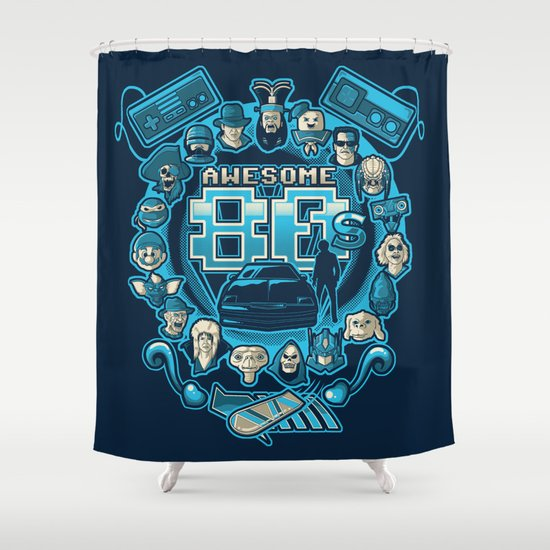AWESOME 80s Shower Curtain