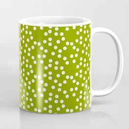 new polka dot 103 green Coffee Mug