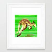 kangaroo Framed Art Prints featuring Kangaroo by wingnang
