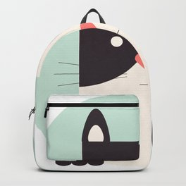 Cartoon Abstract Cat Backpack