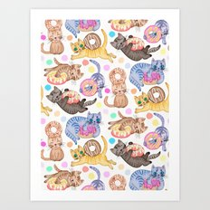 Sprinkles on Donuts and Whiskers on Kittens Art Print