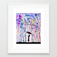 shield Framed Art Prints featuring Deluge by Marc Allante