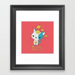 Really Good Kitty Framed Art Print