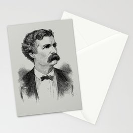 Mark Twain Engraved Portrait - 1870 Stationery Cards
