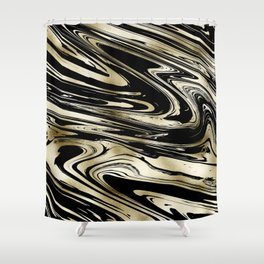 Chic modern abstract black gold stylish marble Shower Curtain