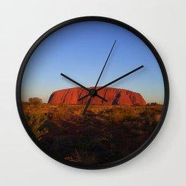 Uluru in the morning Wall Clock
