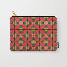 Symmetrical four-petalled arabesque flower Carry-All Pouch