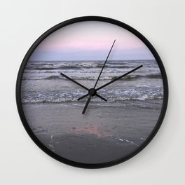pink as the seafoam Wall Clock