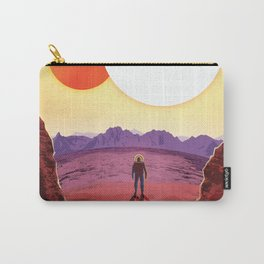 NASA Retro Space Travel Poster #8 Kepler 16b Carry-All Pouch
