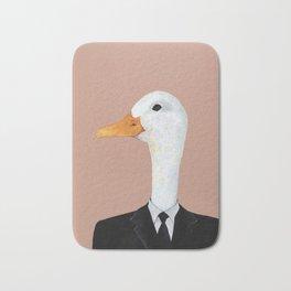 Duck In Suit Bath Mat
