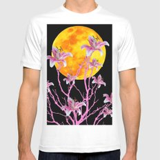 PINK ASIATIC STAR LILIES MOON FANTASY Mens Fitted Tee White MEDIUM