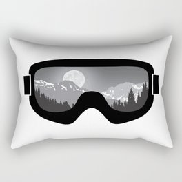 Moonrise Goggles - B+W - Black Frame | Goggle Designs | DopeyArt Rectangular Pillow