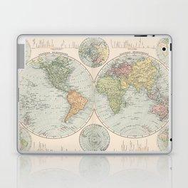 Vintage Map of The World (1892) Laptop & iPad Skin