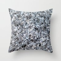 mineral Throw Pillows featuring Granite mineral by L.A.B.