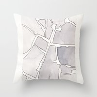 lee pace Throw Pillows featuring Santa Maria della Pace by Patrick Bourgeois