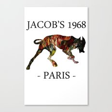 Mad Dog I Jacob's 1968 fashion Paris Canvas Print